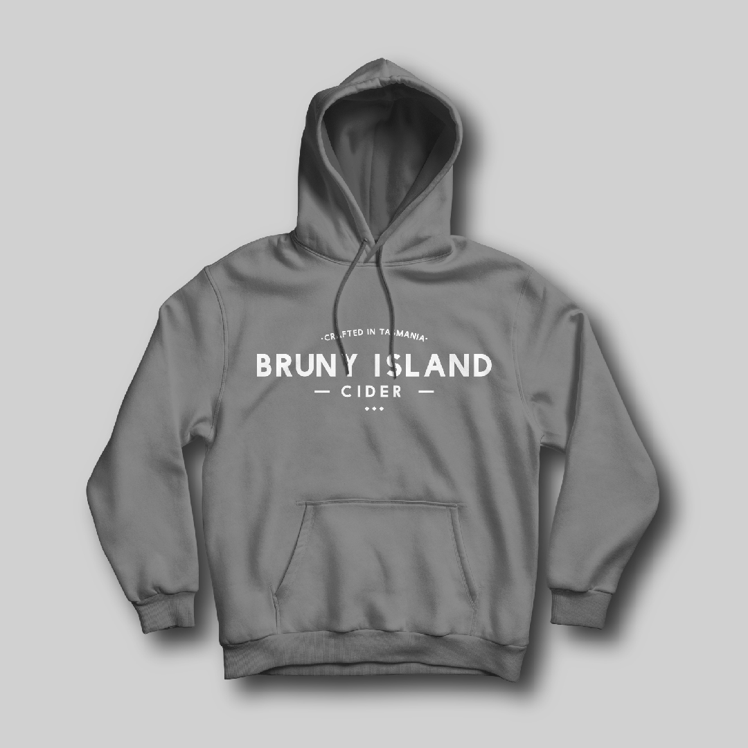 Bruny Island Cider Hoodie Grey