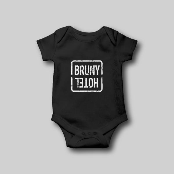 Hotel Bruny Baby Onesie Black